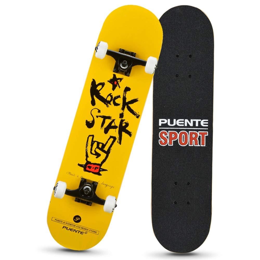 Adolescenti LJHBC Skateboard 31in Incrociatore di Penny Acero a 7 Strati Ruota Antiscivolo 95A Skateboard Professionali Adatto ad Adulti Bambini