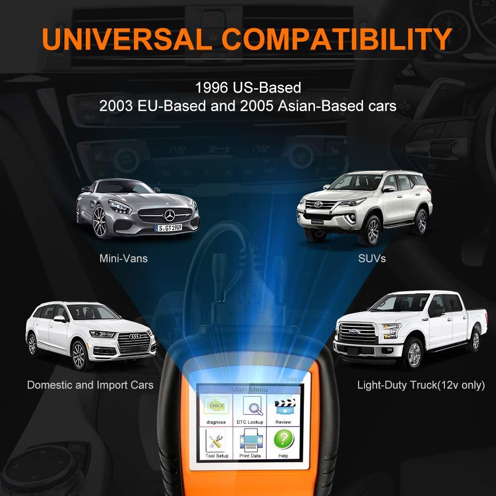 Unterst/ützt alle 12V Benzin Fahrzeuge ab 1996 OBD2 Auto Diagnoseger/ät,2.8 LCD OBD2 Scanner,professionelle Kfz-Diagnose-Tool Auto-Codeleser zum /Überpr/üfen und L/öschen von Fehlercode