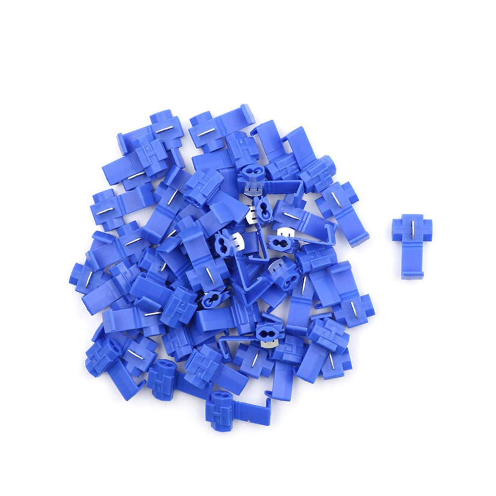 50Pcs Electrical Cable Fast Quick Splice Lock Wire Connector Crimp AWG 22-18