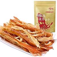 BE&CHEERY 百草味 手撕鱿鱼条80g(即食碳烤 鱿鱼 海鲜小吃 零食特产)