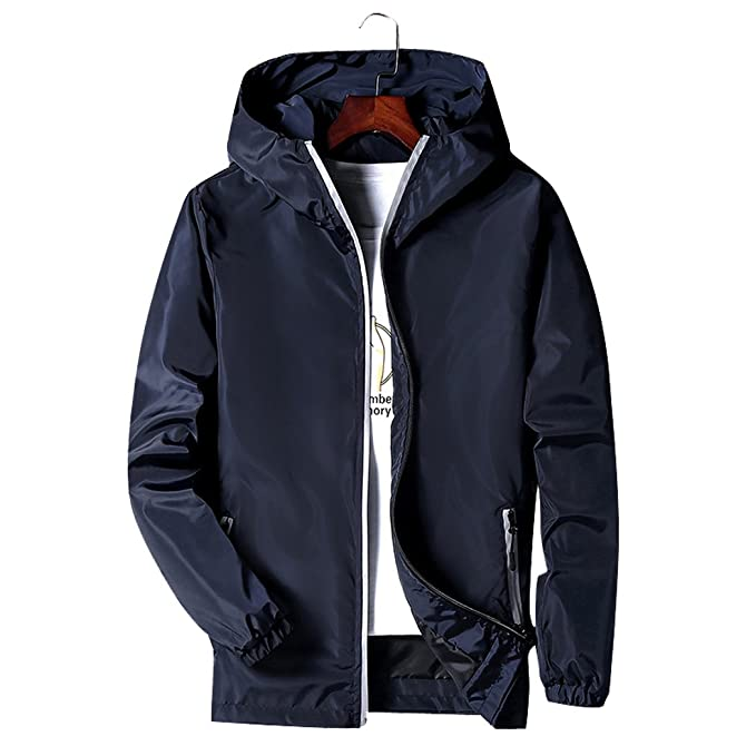Chaqueta Cortavientos con Capucha Casual Hombre Impermeable Deporte Outdoor abrigos: Amazon.es: Ropa y accesorios
