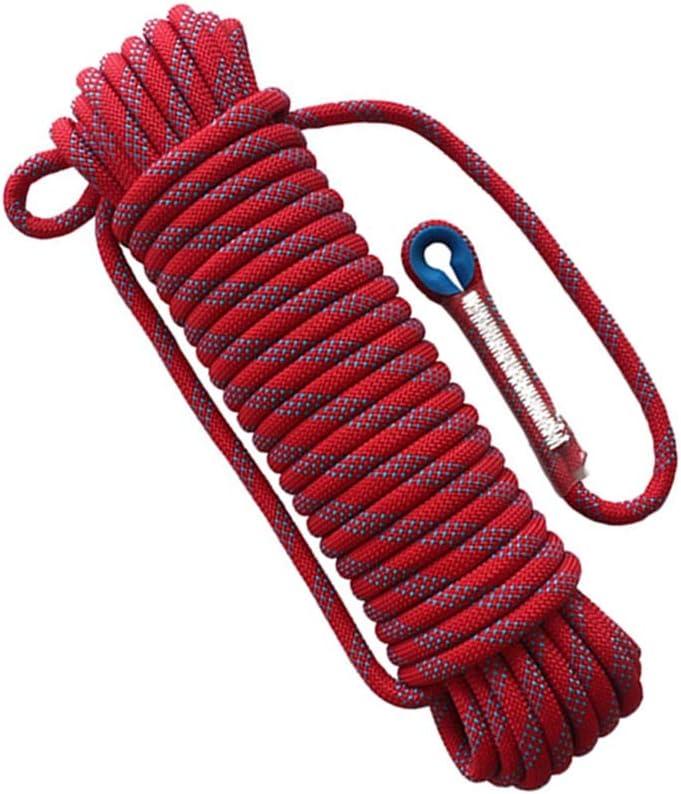 LIINA ロープ 登山用安全ロープ赤色直径18mm柔らかくて結び目が簡単大きい引っ張り力支持能力1800kgまで軽量簡単 (Size : 30m)  30m