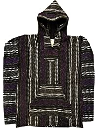 Baja Hoodie~ Original Mexican Deluxe Baja~ Made with 100% Recycled Fibers~ Huge Selection Of Colors & Sizes!! (XXL, Purple)