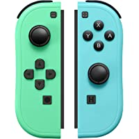 JoyCon Controller Compatible with Switch Joy Cons with Grip Hand,Switch Controllers Supports Wake-up Function (Blue and…