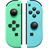 JoyCon Controller Compatible with Switch Joy Cons with Grip Hand,Switch Controllers Supports Wake-up Function (Blue and Green