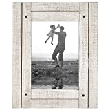 Americanflat 5x7 Aspen White Distressed Wood Frame Made to Display 5x Deal (Small Image)