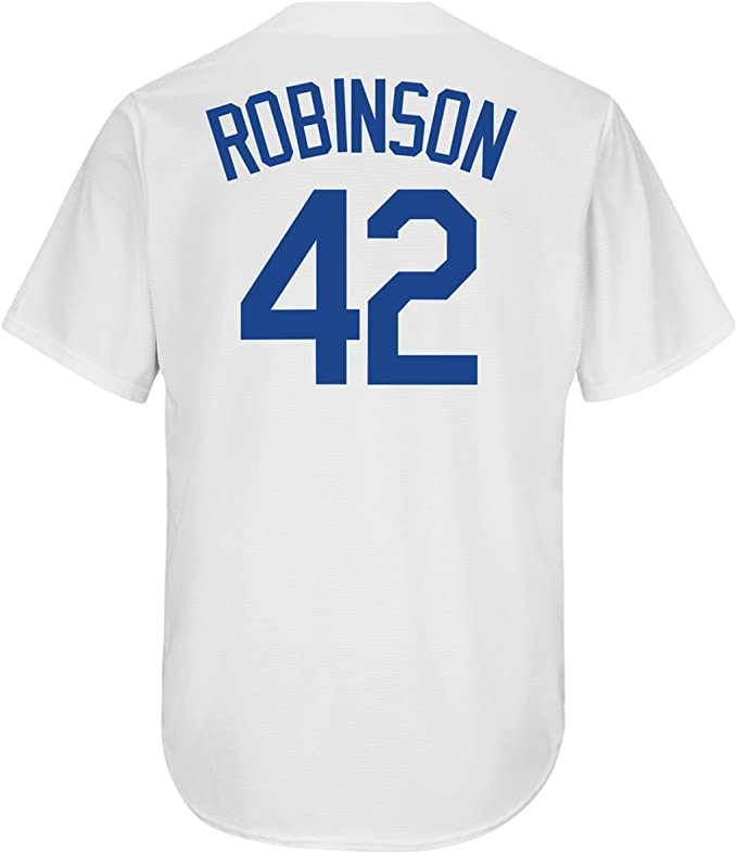 Outerstuff Jackie Robinson Brooklyn Dodgers #42 Youth Player Name /& Number T-Shirt Blue
