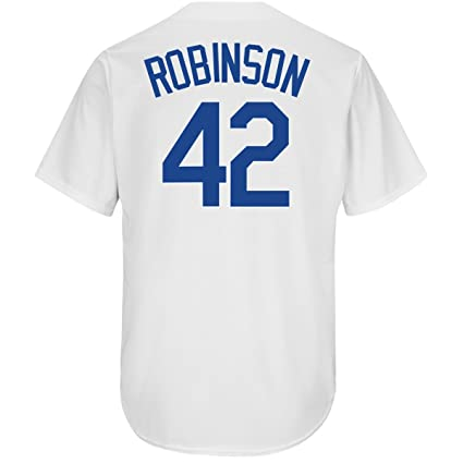 low cost 9550a 11feb Outerstuff Jackie Robinson Brooklyn Dodgers #42 Youth Cool Base Home Jersey
