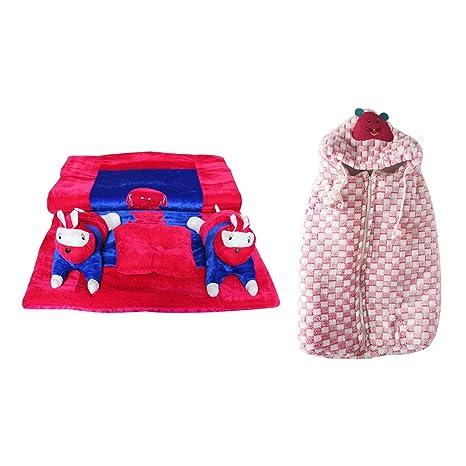 282ec7398 Fabzone Combo of 2 Baby Bedding Set Cotton Gadda Rajai Comfort Baby Toddler  Quilt Mattress Foldable