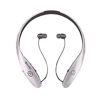 LQQAZY Auricular Inalámbrico Auricular Bluetooth Deportivo Montado En El Cuello Doble Oído Teléfono Celular/TV / Computadora,Silver: Amazon.es: Electrónica