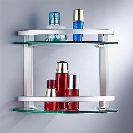 Estantería de Cristal de Aluminio baño bañera Ducha baño ...