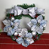 Christmas Garland for Stairs fireplaces Christmas Garland Decoration Xmas Festive Wreath Garland with Christmas Wreath Christmas,60cm