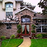 Unomor 7.5 ft Giant Halloween Spider Largest Scary