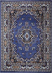 Home Dynamix Premium 7069-310 Country Blue 7-Feet 8-Inch by 10-Feet 7-Inch Traditional Area Rug