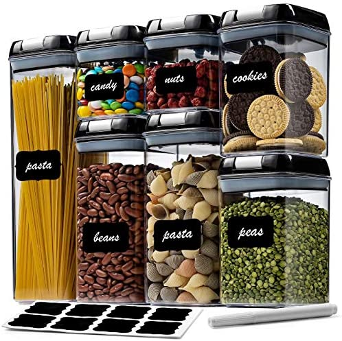 12 Pack Airtight Food Storage Container Set BPA Free Clear Plastic