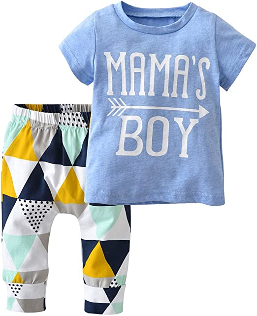 Summer Toddler Baby Kids Clothes Boys Outfits Sets Short Shirt Pants T-Shirt