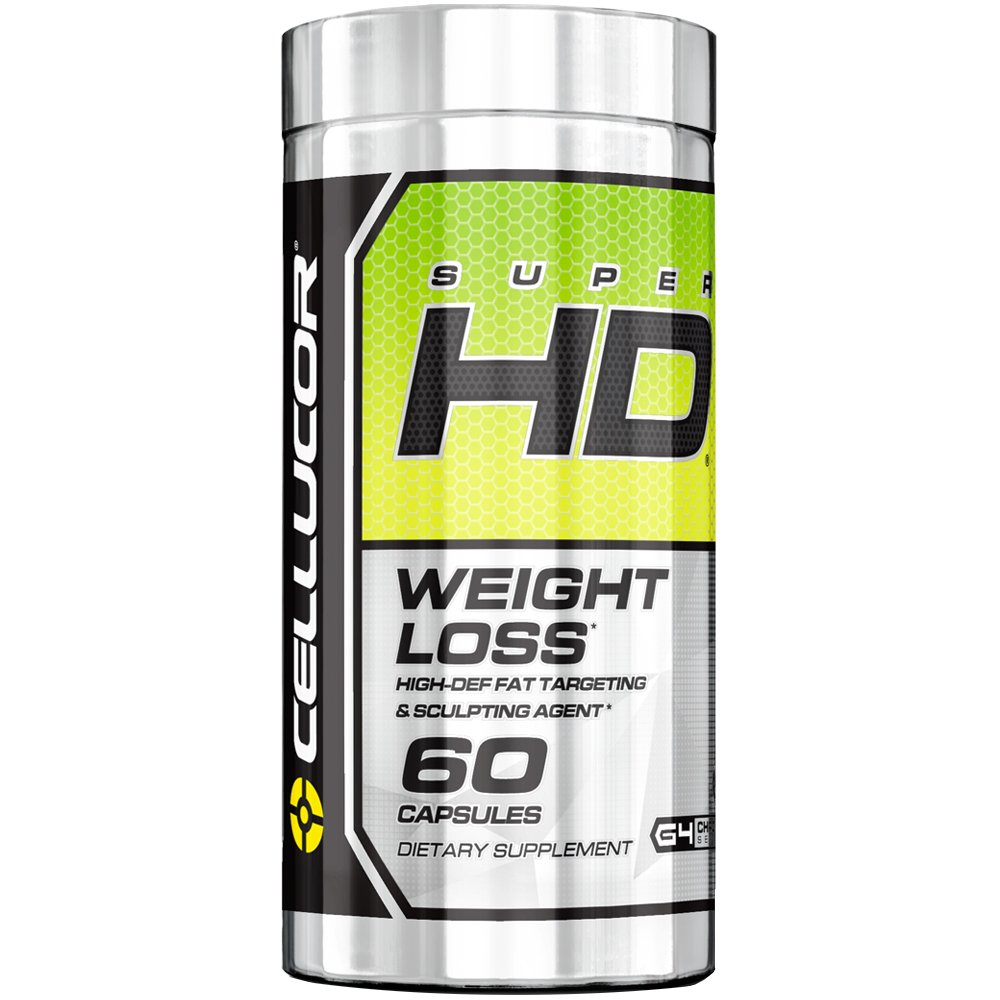 Cellucor SuperHD Thermogenic Fat Burner Weight Loss Supplement for Men & Women, 60 Capsules
