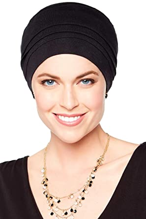 Bamboo Tiffany Turban - Hats for Cancer Patients, Chemo Hat Luxury Bamboo - Black