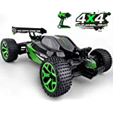 Gizmovine RC Car Toys, 1/18 Scale Remote Control Electric Racing Sand Buggy 4WD High Speed Vehicle for Kids & Adult (Green)