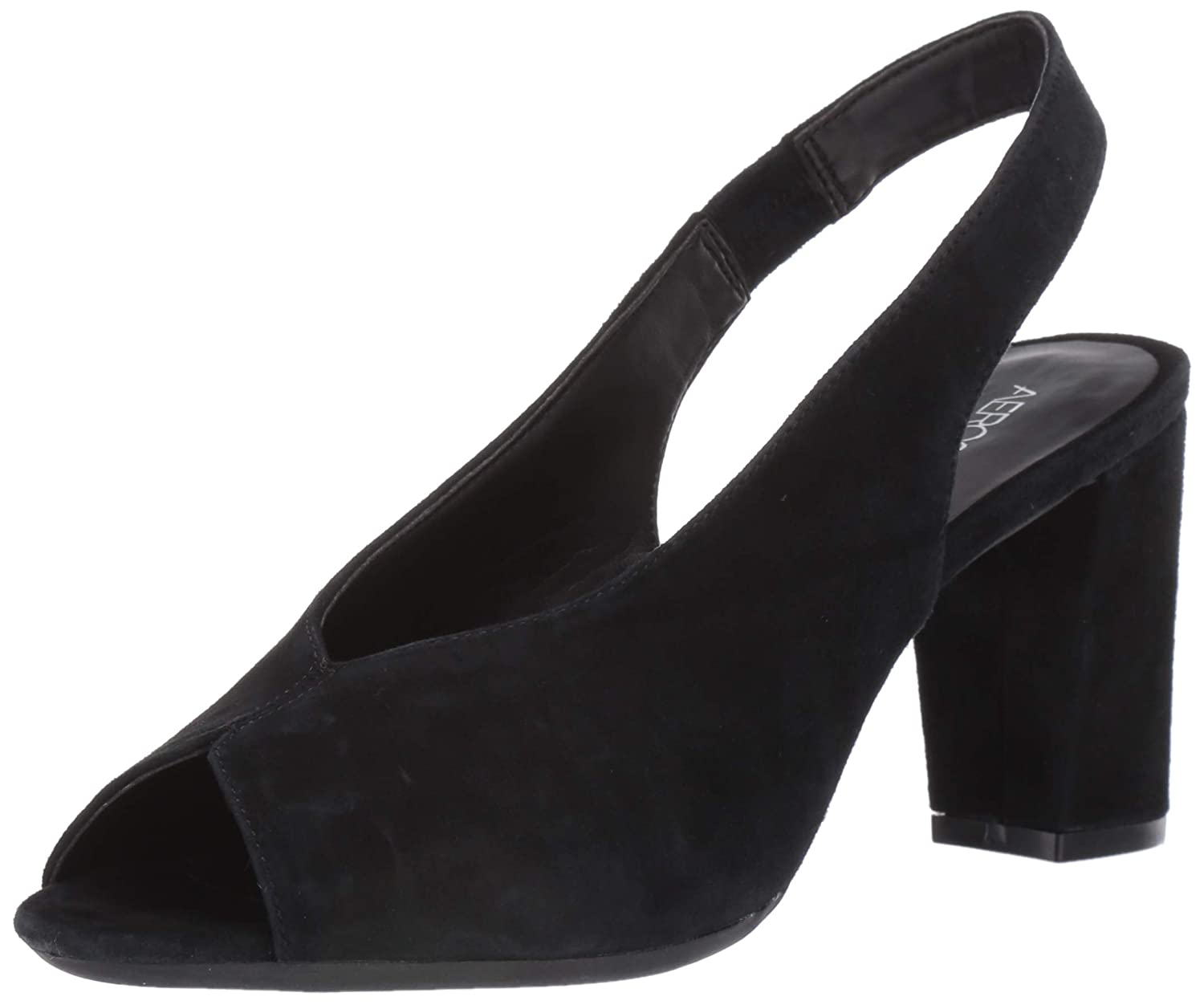 Black Suede Aerosoles Womens Birdbath Pump