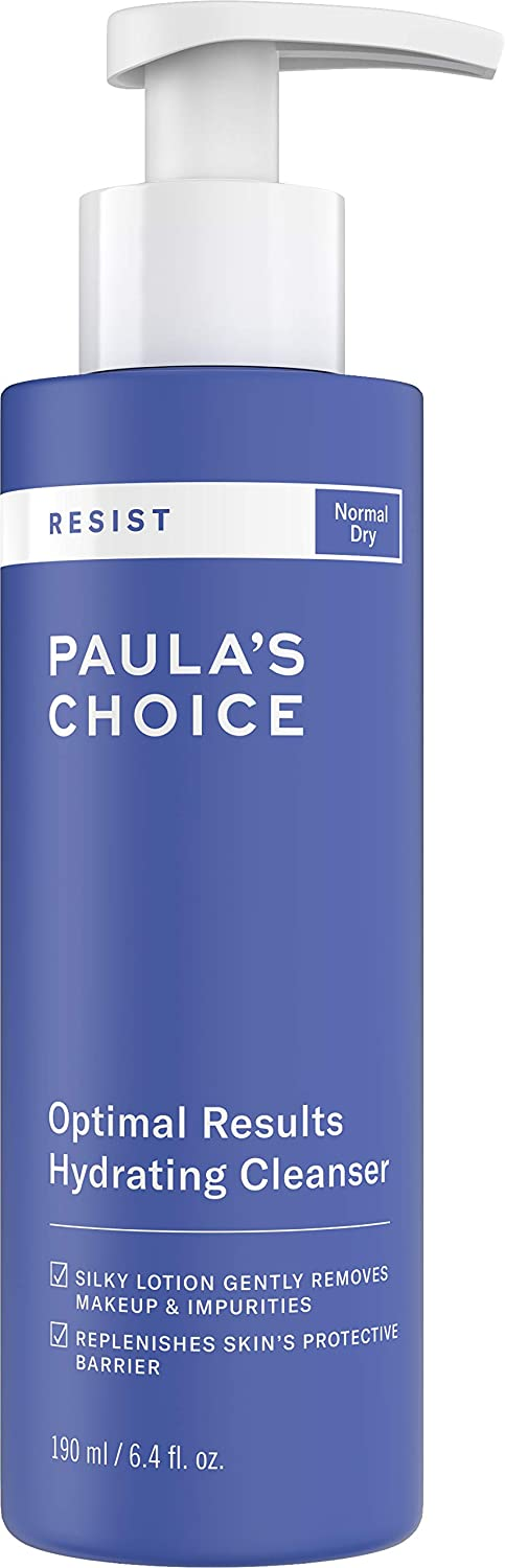 Paula's Choice RESIST Optimal Results Hydrating Cleanser, Green Tea & Chamomile, Anti-Aging Face Wash, Dry Skin, 6.4 Ounce