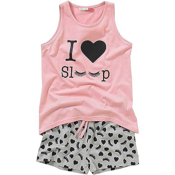 Cozy n Dozy Older Girls I Love Sleep Heart Print Shortie Pyjamas   Amazon.co.uk  Clothing 349967cb7