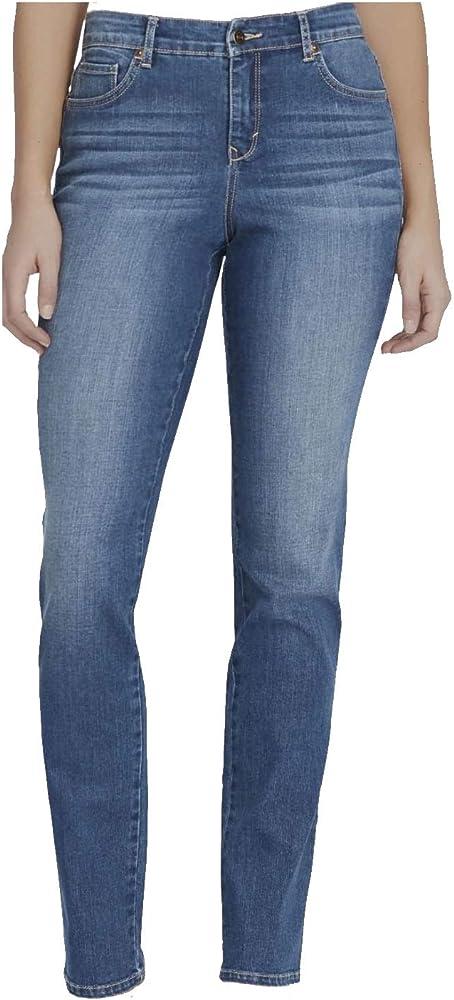 Gloria Vanderbilt Womens Rail Straight Leg Jean
