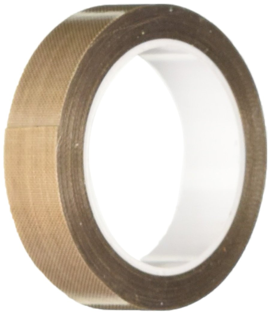 0.0082 Thick 1 roll 3M 0.875-5-5453 Brown PTFE Glass Cloth Tape 100 to 500 Degrees F Performance Temperature