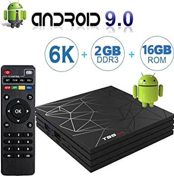 Android 9.0 TV Box con 2 GB RAM 16 GB ROM, T95 MAX Android Boxes H6 Quad Core, compatible con 6K Full HD/H.265/WiFi 2.4 GHz Smart TV Box: Amazon.es: Electrónica