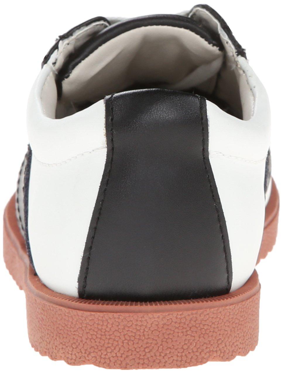 Academie Gear Honor Roll Saddle Shoe (Toddler/Little Kid/Big Kid),White/Black,4 W US Big Kid by Academie Gear (Image #2)