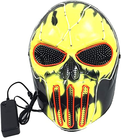 RG-FA Halloween LED Light Up Mask Wire Rave Cosplay Disfraz ...