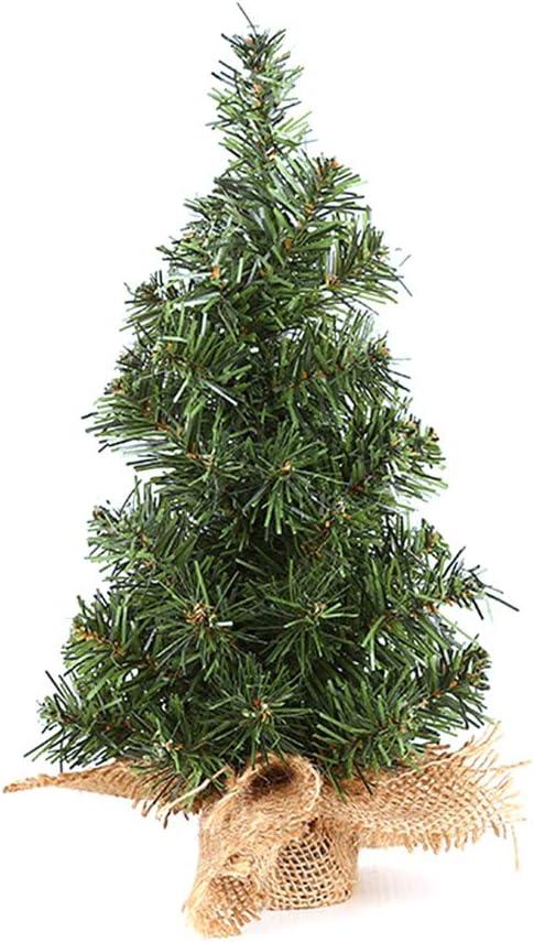 Pequeño árbol de Navidad de escritorio Mini Artificial Pino verde Bonsai Mesa Centro de mesa Adornos para tiendas de oficina Decoración de la escuela en casa 20 cm 30 cm: Amazon.es: Hogar