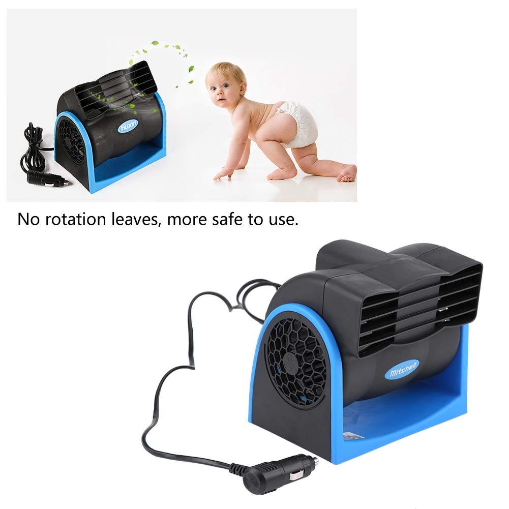 Mini circulador de Aire Ajustable con Encendedor de Cigarrillos KIMISS 12V Ventilador el/éctrico del Coche