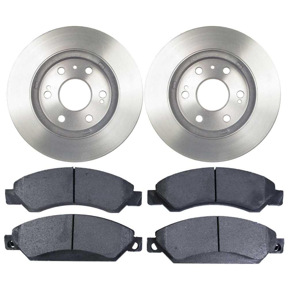 Prime Choice Auto Parts RSMK65099-65099-1092-2-4 Set of 2 Premium Rotors & 4 Semi Metallic Pads