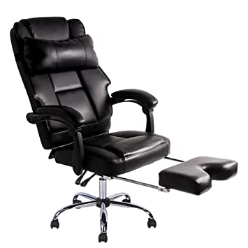 luxury leather office chair. btm luxury high back executive faux leather office chair swivel recliner and footstool computer pc i