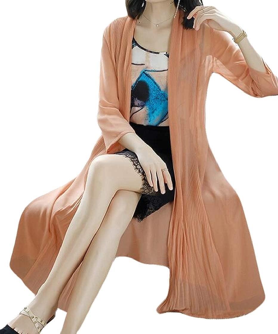 YYear Womens Relaxed-Fit Summer Sun-Protection Thin Chiffon Shawl Cardigan Coat