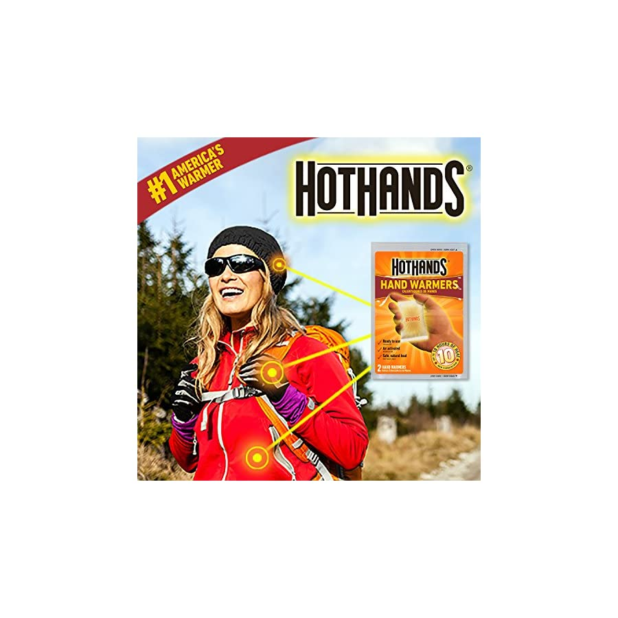 HotHands Body & Hand Super Warmers Long Lasting Safe Natural Odorless Air Activated Warmers Up to 18 Hours of Heat 40 Individual Warmers