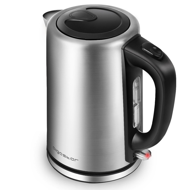 Aigostar Knight 30IGP – Hervidor de agua 1,7 litros, 2200 watios, libre de BPA y material de acero inoxidable pulido de grado 304, sistema de protección contra la ebullición en seco. Diseño exclusivo.