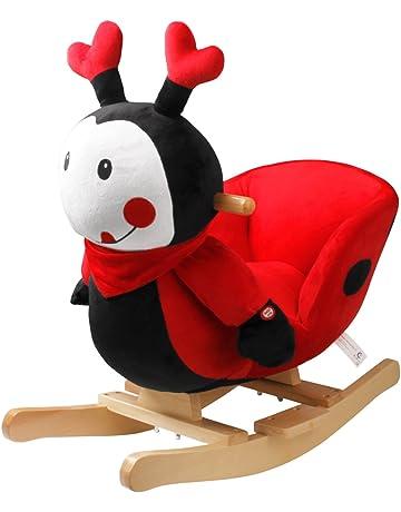 YAOBLUESEA Mecedora de Mariquita Animal Mecedora Silla Mecedora de Juguete Especial para niños con Sonido,