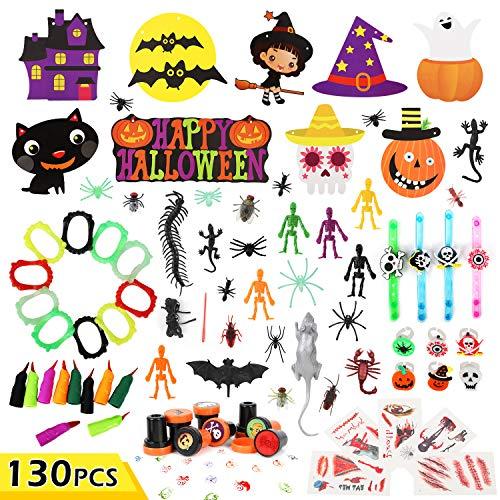 Juguetes y Decoración para Fiestas de Halloween para niños, Surtido de Juguetes de Halloween para Fiestas de Halloween, 130 Piezas
