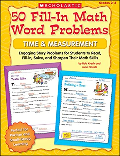Amazon.com: 50 Fill-in Math Word Problems, Time & Measurement ...