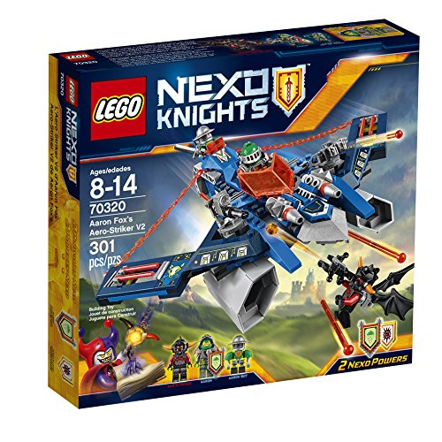 [LEGO Nexo Knights 70320 Aaron Fox's Aero-Striker V2 Building Kit (301 Piece)] (Fire And Ice Party Costumes)