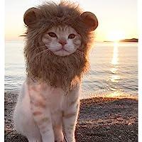 Pet Cats Lion Mane Costume, Soft Furry Pet Wig Cute Ears Pet Clothing Accessories Dress up