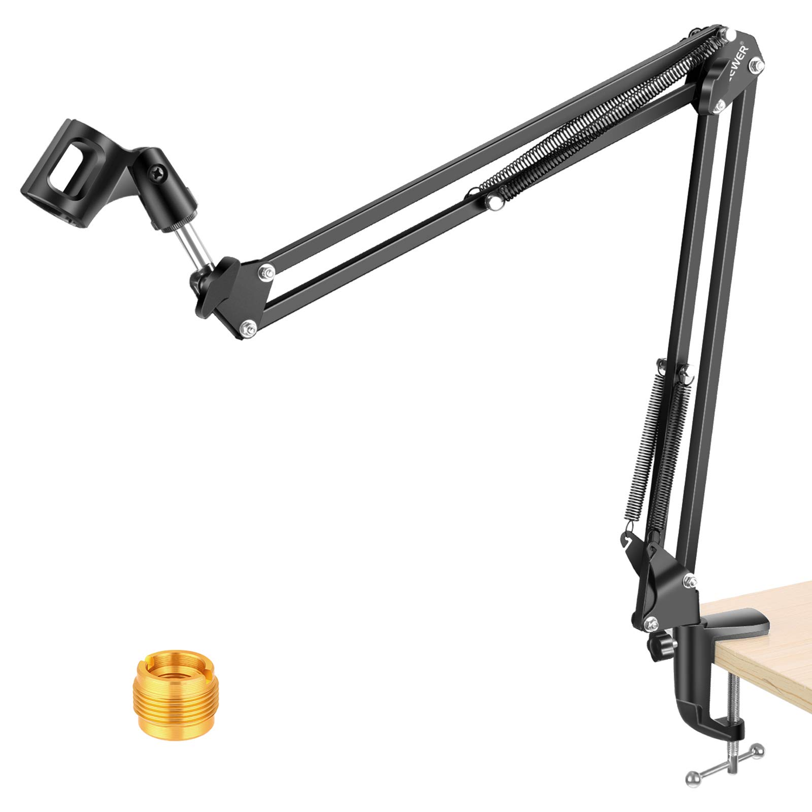 NEEWER Adjustable Microphone Suspension Boom Scissor Arm Stand, Max Load 1 KG Compact Mic Stand for Radio Broadcasting, Voice-Over, Stage and TV Stations, Compatible with Blue Yeti Snowball Yeti X,etc
