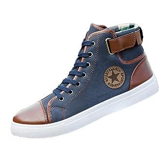 Zapatos Hombre,Hombres zapatos causales de encaje-hasta botines zapatos casuales altos zapatos de