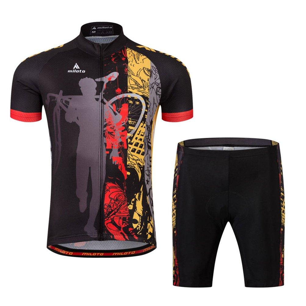 c32b1720c Uriah Men s Cycling Jersey and Shorts Sets Short Sleeve Reflective Miloto