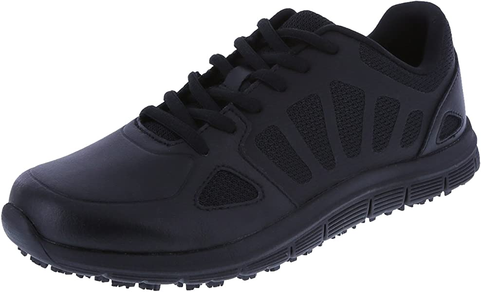 e6c4c2d5de1002 safeTstep Women s Black Slip Resistant Avail 2.0 Runner 5 Regular