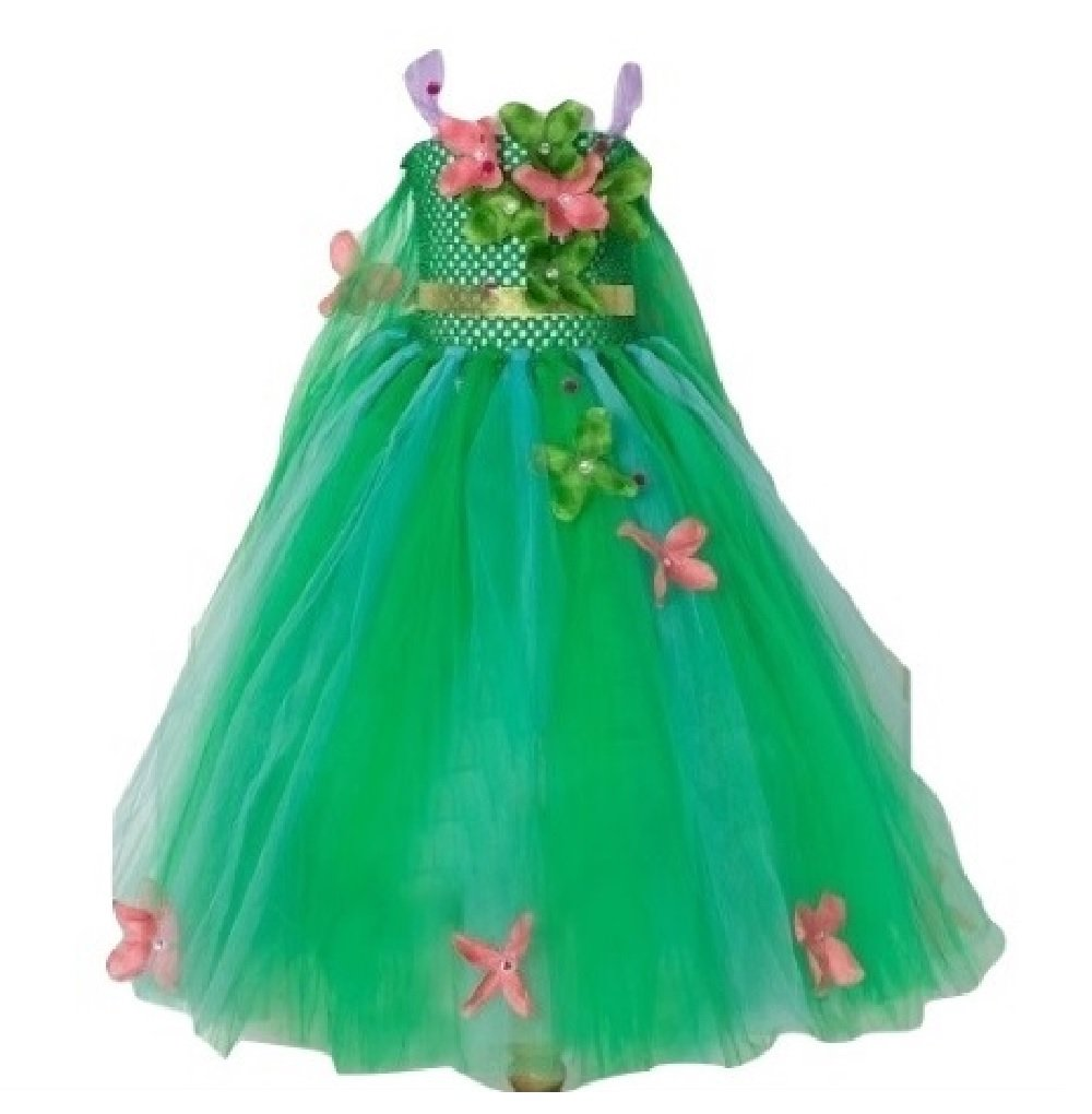 Spring Queen Floral Tutu Dress/Hair Accessories from Chunks of Charm (Gown 5)