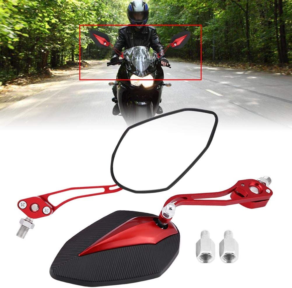 Paire 8mm 10mm Universal Scooter Moto R/étroviseur R/étroviseurs R/étroviseurs Rouge R/étroviseur