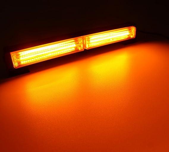 Amber HEHEMM Vehicle Strobe Lights 36W COB 12-24V LED Car Truck Strobe Emergency Flashing Hazard Warning Light Bar Emergency Warning Traffic Light Emergency Flashing Warning Beacons
